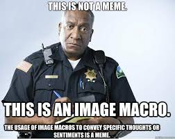 Macro Meme - this is not a meme this is an image macro the usage of image