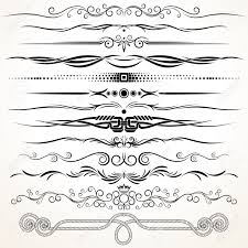 ornamental rule lines decorative vector design elements royalty