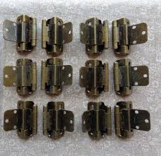 3 8 inset cabinet hinges 6 pair 12 hinges partial wrap self closing cabinet hinge 3 8 inset