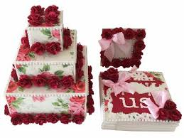 Wedding Gift Set Buy Wedding Cake Gift Set Wedding Gift Online Crackofdawncrafts In