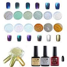 covermason 12 colors nail art shinning mirror glitter powder