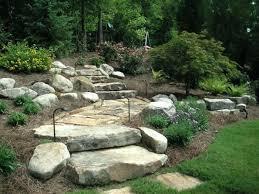 hillside landscape design ideas rock garden design ideas to create