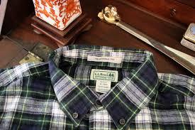 salt water new england l l bean u0027s scotch plaid flannel shirt in