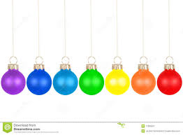 Christmas Tree Balls Christmas Tree In Rainbow Colors Stock Vector Image 46453767