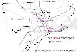 Detroit Zip Code Map Heart Detroit Locations Png