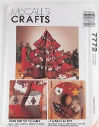 vintage mccalls christmas craft pattern number 7772 holiday decor