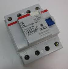 abb circuit breaker elcb 4 pole 40a 100ma f364 40 0 1 w broken