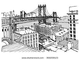 new york city postcard illustration download free vector art