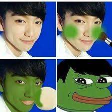 Lol Wut Meme - jinyoung meme frog got7 amino