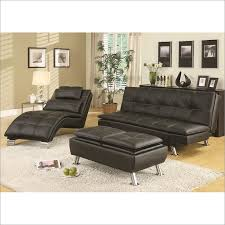 contemporary futon sleeper sofa bed in black by coaster furniture