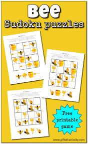 bee sudoku free printable gift of curiosity