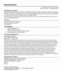 sample resume for massage therapist sample resume for massage