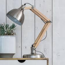 Light Wood Desk Wooden Arm Desk Lamp Lighting Graham And Green
