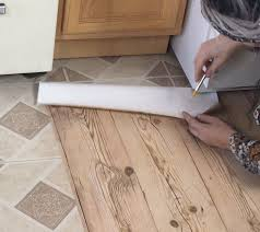 apartment faux wood floors with contact paper hometalk