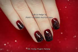gelish dark berry christmas glitter nails funky fingers factory
