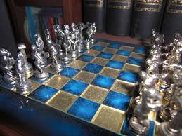 Metal Chess Set by Small Metal Chess Set From Turkey With Chess Pieces Reflecting