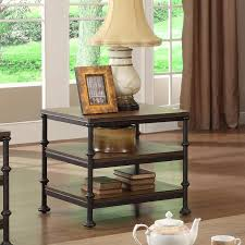 rectangular end table with 2 shelves by riverside furniture wolf