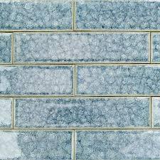 Kitchen Glass Tile Ideas Roman Collection Brisk Blue 2x8 Glass Tile Roman Glass