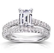 emerald cut wedding band emerald cut solitaire engagement ring wedding band set