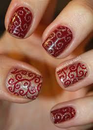 easy christmas nails freehand youtube easy christmas nails diy