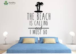 pattern fashion quotes fashion wall decal quotes the beach is calling and i must go palm