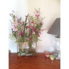 Artificial Flower Arrangements Flower Arrangement Assorted Garden Flowers In A Tank Vase Gfv007