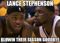 Lance Stephenson Meme - lance stephenson blows to save the world lance stephenson