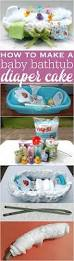 how to make a baby bathtub diaper cake with step by step directions