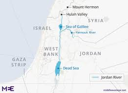 middle east map water bodies the dead river how the waters of the run foul middle