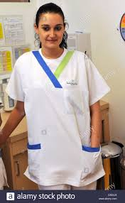 Medical Park Bad Wiessee Nurse Sandra Rivera Diaz 26 From Seville Stands At The Medical