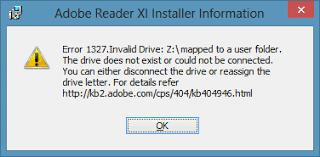 error 1327 invalid drive while installing or updating windows 8 and problems with a redirected my documents folder 404