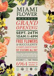 Shop Opening Invitation Card Miami Flower Market Celebrates Grand Opening With Complimentary