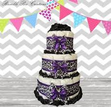 cake centerpiece leopard print purple black 3 tier cake centerpiece ebay