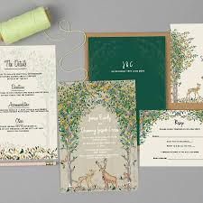 wedding invitation set majestic woodland wedding invitation set by geri emi paper