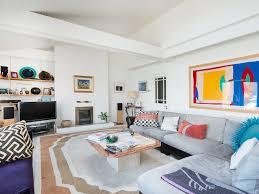 Coastal Area Rugs Tv Accent Wall Table Shelf Tile Floor Dark Stripes Gray Sofa