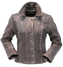 leather jacket for motorcycle riding rivet trim vintage leather motorcycle jacket for women la4041zrdn
