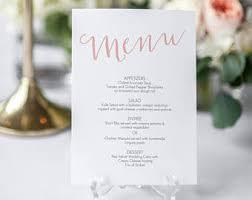 dinner party menu etsy
