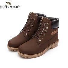 2015 fashion genuine pu leather waterproof men boots comfortable