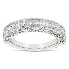 filigree wedding band filigree designer diamond wedding band for 1 carat 14k gold