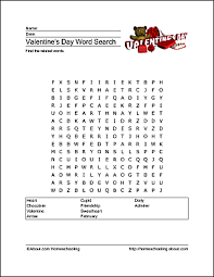 valentine u0027s day wordsearch crossword and more