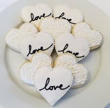 wedding favors 1 wedding or bridal shower decorated heart cookie favors 1 dozen on