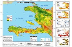 Haiti Map Haiti Carte Multi Aléas Wfp United Nations World Food