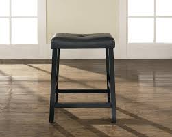 Leather Saddle Bar Stools Crosley Upholstered Saddle Seat Bar Stool With 24 Inch Seat Height