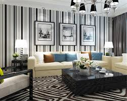 Black And White Striped Wallpaper by Online Buy Wholesale White Stripes Wallpaper From China White