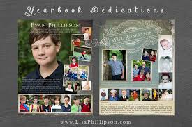 custom yearbook atlanta yearbook dedications tribute pages phillipson