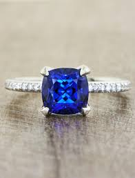 saphire rings jessamine cushion cultured blue sapphire ring ken