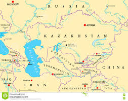 Political Map Asia by Caucasus And Central Asia Political Map Stock Photo Image 74106918