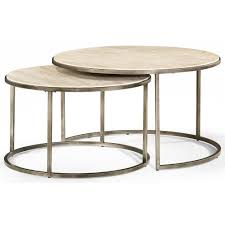 Hammary Sofa Table by Round Cocktail Table With Nesting Tables By Hammary Wolf And