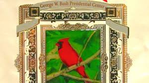 george w bush s cardinal painting for sale on ornament