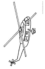 helicopter color coloring pages kids transportation
